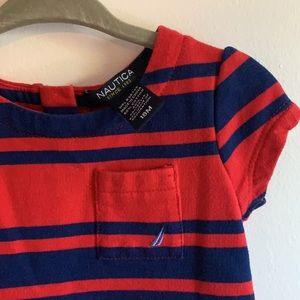 Nautica | 🆕 Striped Dress 18 month Little Girl A line Back zip